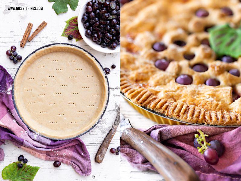 Weintrauben Pie mit Zimt und Marzipan Rezept