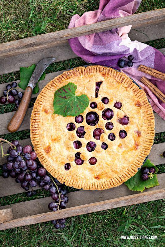 Trauben Tarte Weintrauben Pie Rezept #traubenpie #marzipan #tarte #pie #trauben