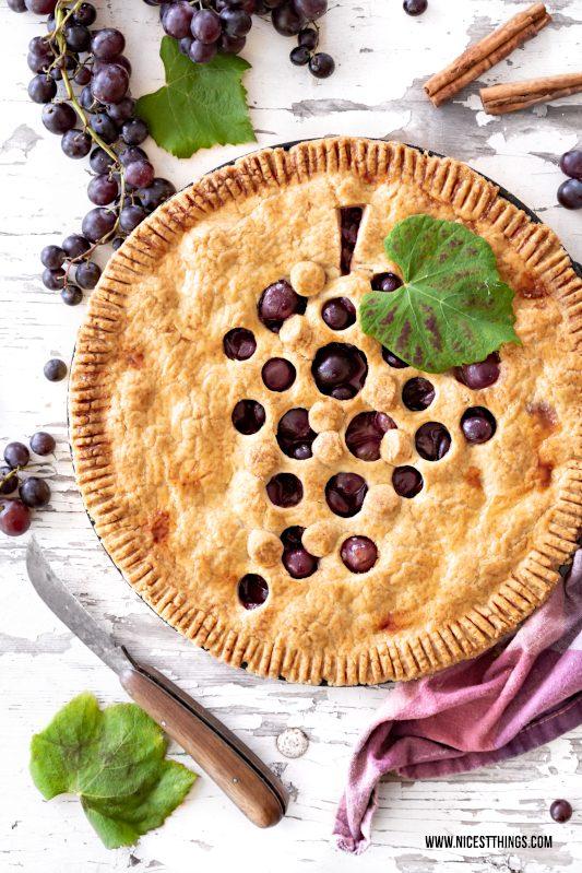 Trauben Pie Weintrauben Tarte Zimt Marzipan #trauben #grapes #tarte #herbst #traubentarte