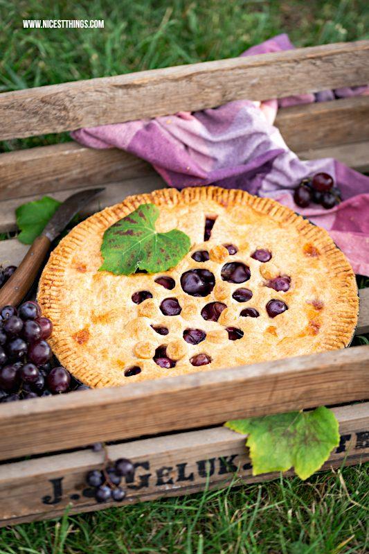 Trauben Pie Weintrauben Tarte Rezept Zimt #trauben #weintrauben #pie #traubenpie