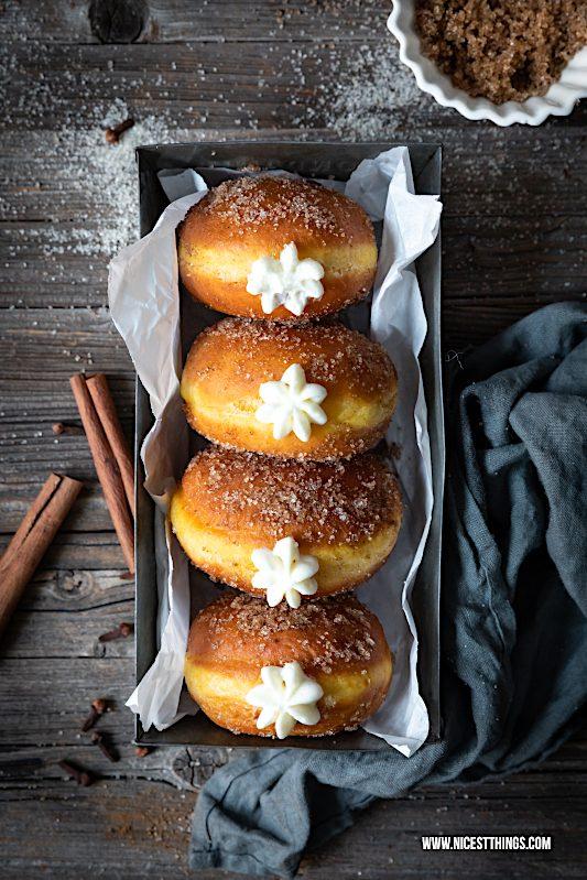 Berliner weiße Schokolade Kürbis Donuts Pumpkin Spice Berliner Krapfen #weisseschokolade #berliner #krapfen #kürbis #donuts #donutrezepte #herbstrezepte #pumpkinspice