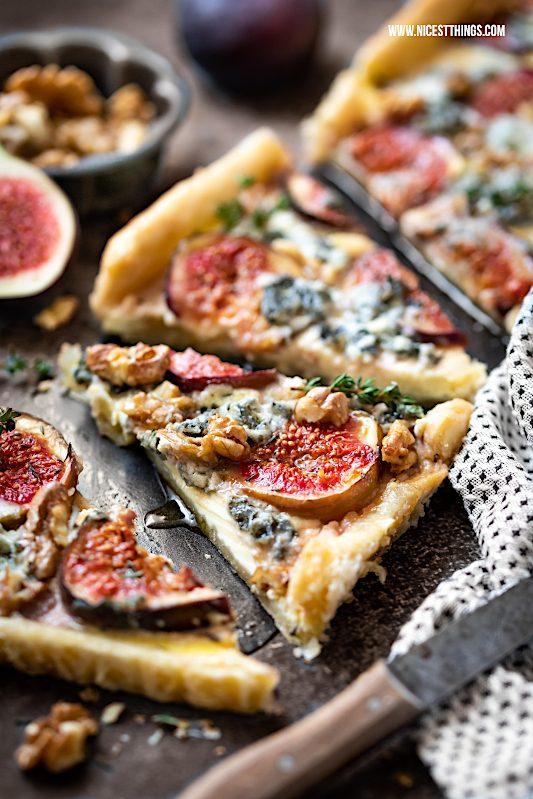 Feigen Quiche Feigen tarte herzhaft Feigenquiche Roquefort Gorgonzola Walnüsse Thymian Ahornsirup #feigen #feigenquiche #quiche #walnüsse #ahornsirup #thymian #herbstrezepte