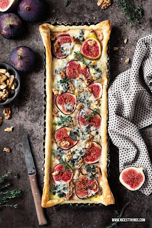 Feigen Quiche Rezept Feigenquiche Roquefort Gorgonzola Walnüsse Thymian #feigen #feigenquiche #quiche #walnüsse #roquefort #gorgonzola