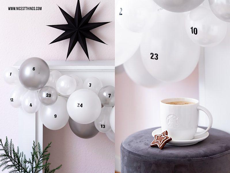DIY Adventskalender Luftballons originelle Adventskalender