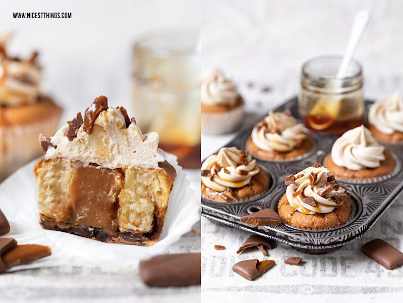 Cupcakes mit Karamell Kern und Daim Rezept