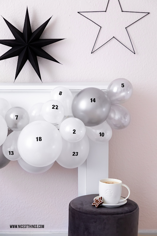 DIY Adventskalender Luftballons Luftballon Adventskalender basteln besondere Adventskalender #diy #adventskalender #luftballons #weihnachtskalender #luftballon #adventskalenderideen #xmas #xmasdiy #weihnachtsdiy