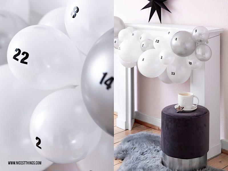 Originalle Adventskalender Luftballon Adventskalender basteln DIY