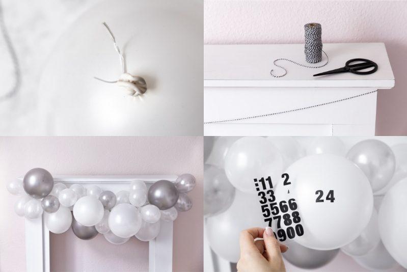 DIY Adventskalender aus Luftballons Anleitung