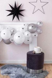 Luftballon Adventskalender basteln DIY originelle Adventskalender #adventskalender #luftballons #balloons #diy #weihnachten #adventcalendar #xmas
