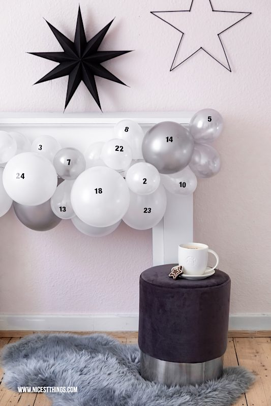 Luftballon Adventskalender Basteln Diy Adventskalender
