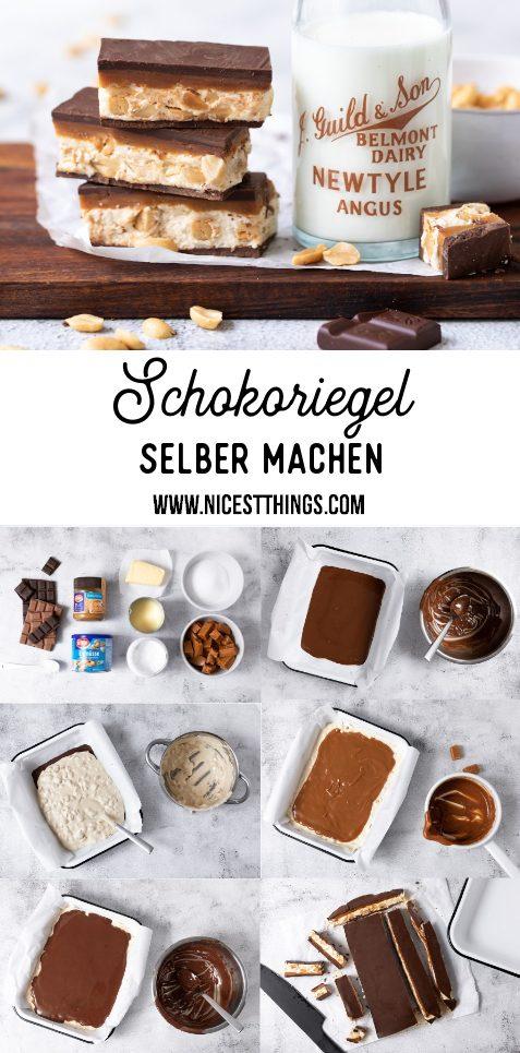 DIY Schokoriegel selber machen Rezept Erdnuss Karamell #schokoriegel #erdnüsse #schokolade #karamell #chocolatebars #peanutbutter #ültje