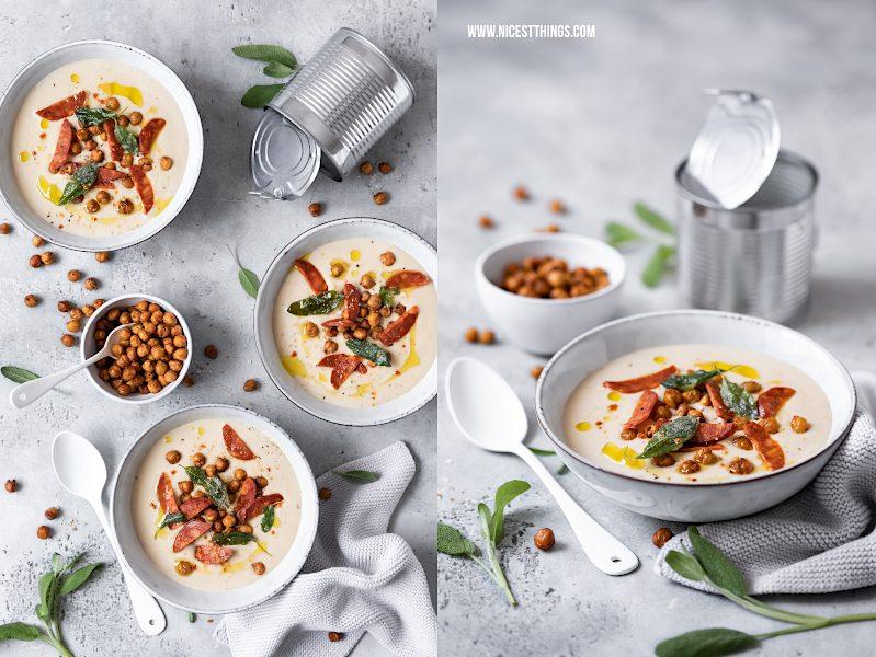 Weiße Bohnensuppe mit Zutaten aus der Dose Rezept Initiative Lebensmitteldose