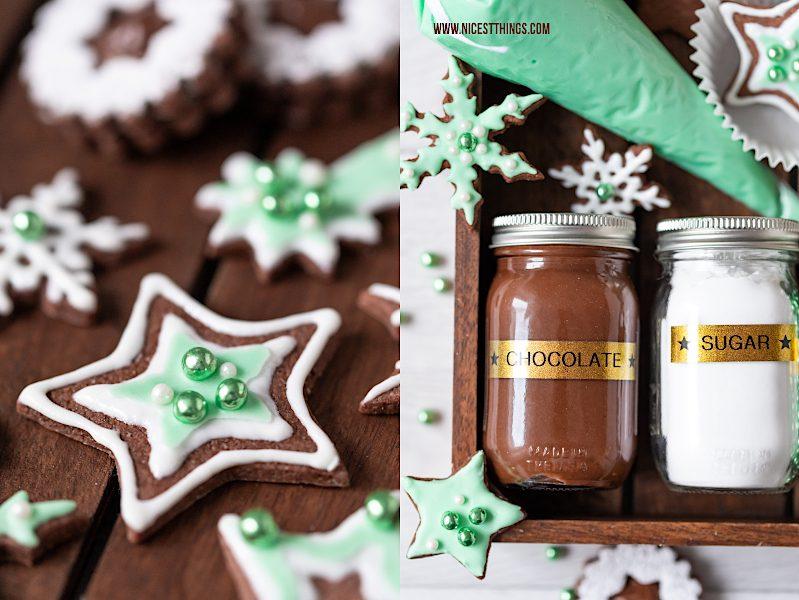 DIY Plätzchen Dekorier Set DIY Weihnachtsgeschenk Holiday Cookie Decoration Kit