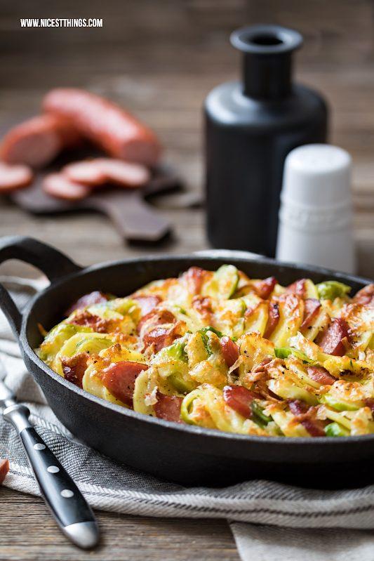 Kartoffelgratin Rezept mit Käse, Sahne, Kabanos #kartoffelgratin #kabanos #auflauf #gratin #soulfood #ofengericht #überbacken #bake