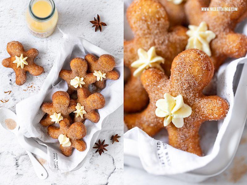 Gingerbreadman Donuts Lebkuchen Berliner Eierlikör Krapfen