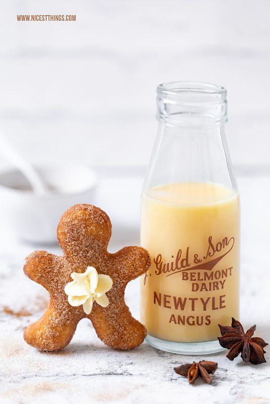 Lebkuchenmann Krapfen Gingerbread Man Donuts Lebkuchen Berliner Eierlikör #lebkuchenmann #gingerbreadman #berliner #krapfen #eierlikör #weihnachten
