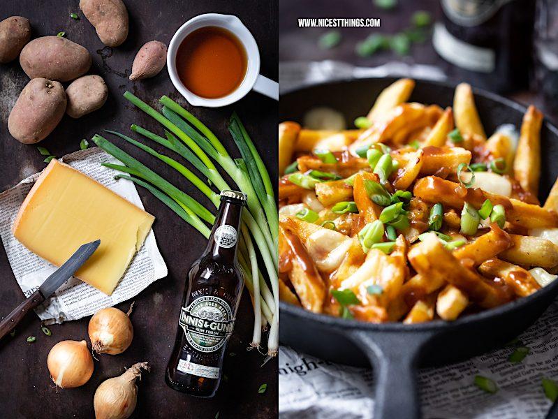 Poutine Rezept Raclette kartoffeln Pommes Frites Käse Bratensauce