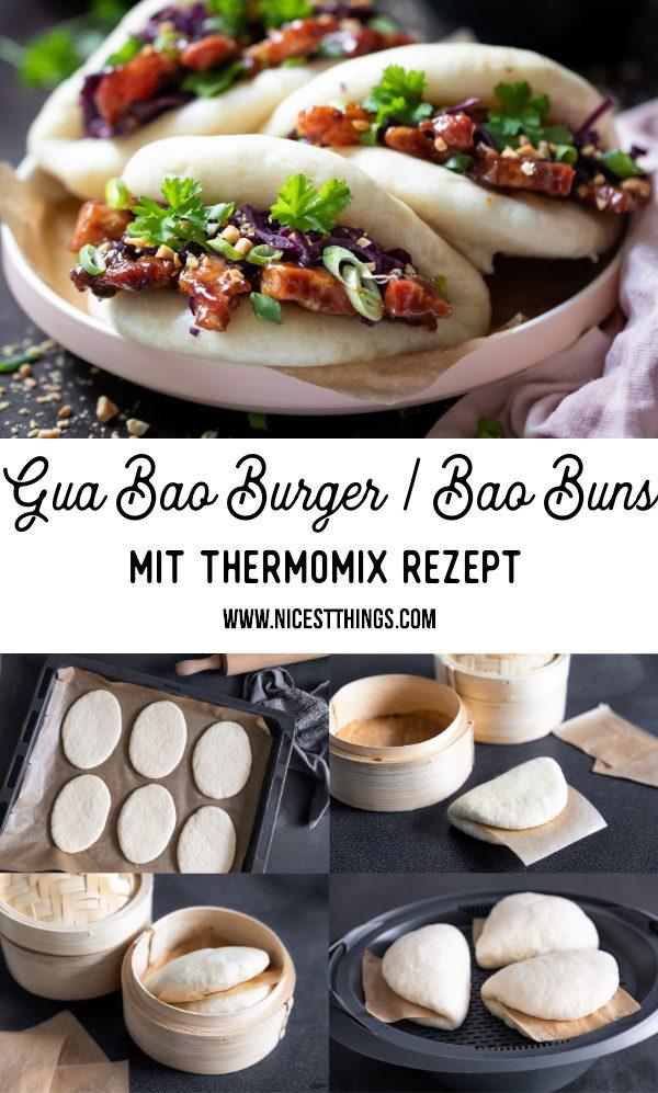 Bao Buns Rezept Thermomix Gua Bao Burger mit glasiertem Schweinebauch, Rotkohl und Erdnüssen #baobuns #guabao #asiatisch #asiarezepte #asian #taiwanese #thermomix #rezepte #foodblogger #erdnüsse #burger #streetfood
