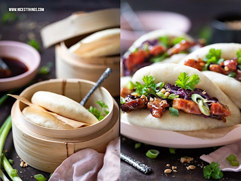 Bao Buns Gua bao Rezept Thermomix Schweinebauch
