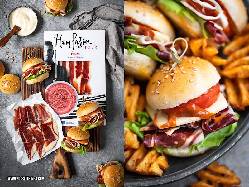 Ham Passion Tour Europe: Iberian Ham Iberico Schinken Rezept Mini Burger Tapas Burger