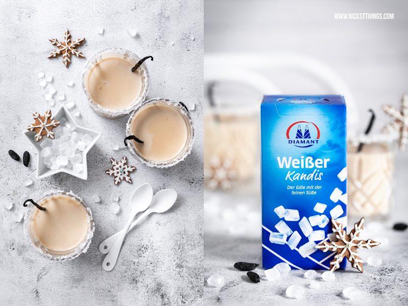 Diamant weiße Kandis Punsch Rezept Schneepunsch Winterpunsch Punsch vegan