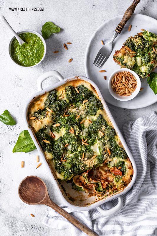 Vegane Lasagne Linsen Lasagne Spinat Pesto Rezept #vegan #lasagne #veganelasagne #linsenlasagne #spinatlasagne #lentils #spinach