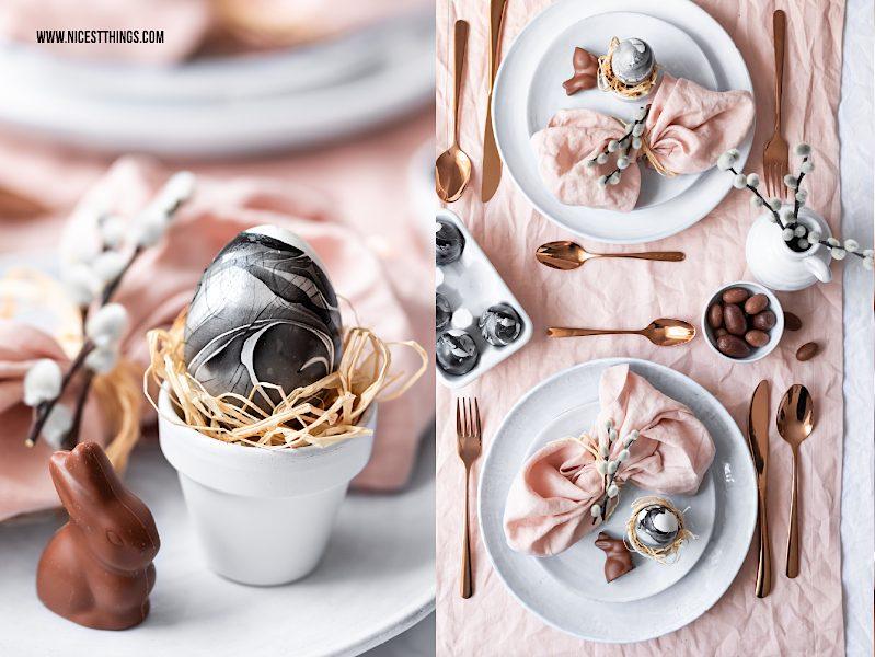 Marmor Osterei Tischdeko Ostern
