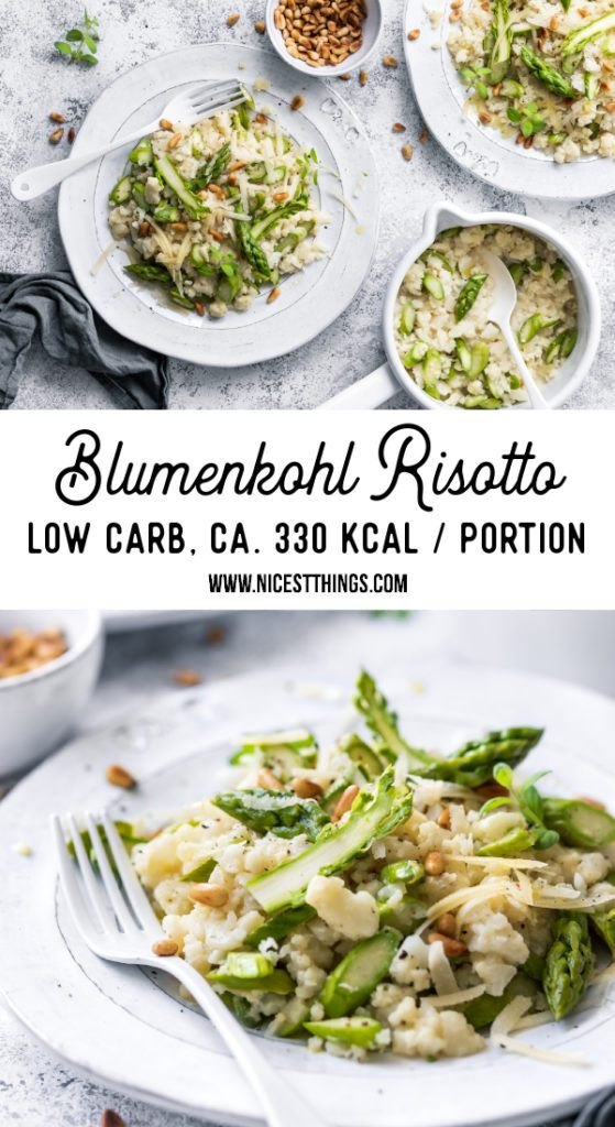 Blumenkohl Risotto Cauliflower Rice Blumisotto Low Carb Rezept grüner Spargel Risotto Blumenkohlrisotto #blumenkohl #risotto #blumenkohlrisotto #cauliflowerrice #blumisotto #spargel #abnehmen #cauliflower #asparagus #lowcarb #keto #ketodiet #cleaneating