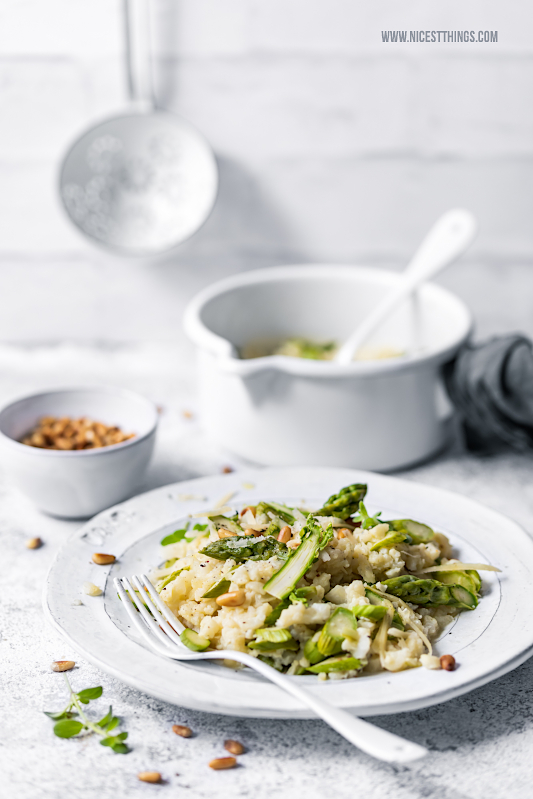 Blumenkohl Risotto Low Carb Rezept grüner Spargel Risotto Blumenkohlrisotto #blumenkohl #risotto #blumenkohlrisotto #spargel #abnehmen #cauliflower #asparagus #lowcarb #keto #ketodiet #cleaneating