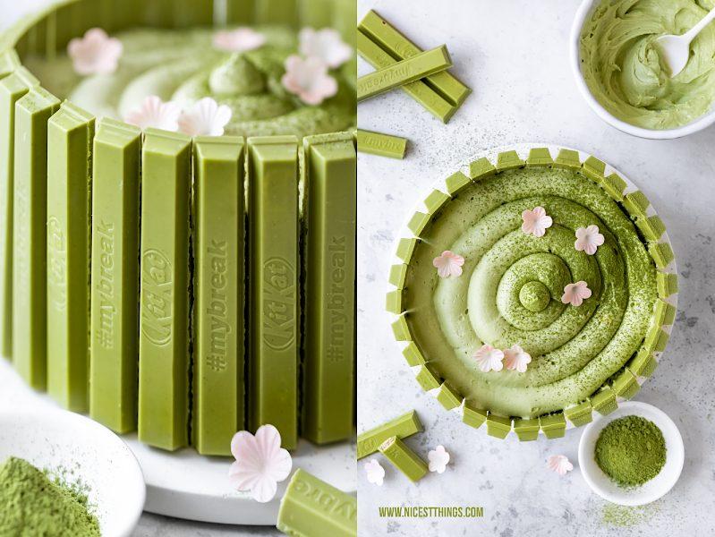 Matcha Torte mit KitKat Green Tea Matcha