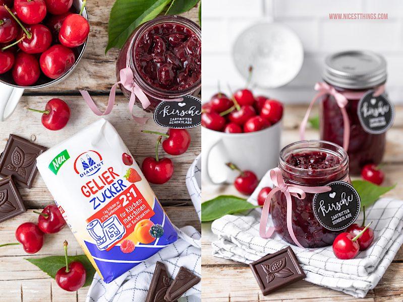 Diamant Gelierzucker 2:1 für Küchenmaschinen #diamantzucker #gelierzucker #selbstgemacht #marmelade #kirschmarmelade #kirschen #schokolade #konfitüre