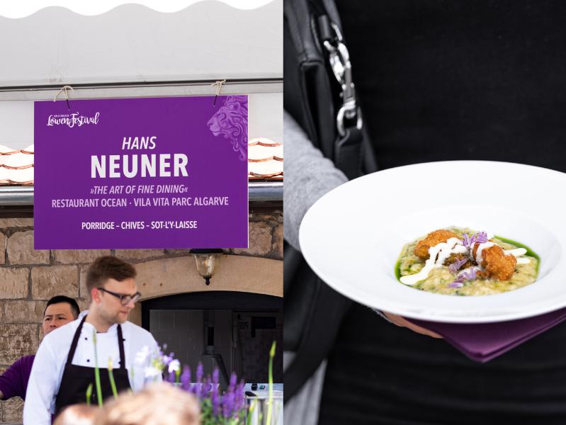 Hans Neuner Porridge Chives Sot-l'y-laisse Löwenfestival Kallstadt
