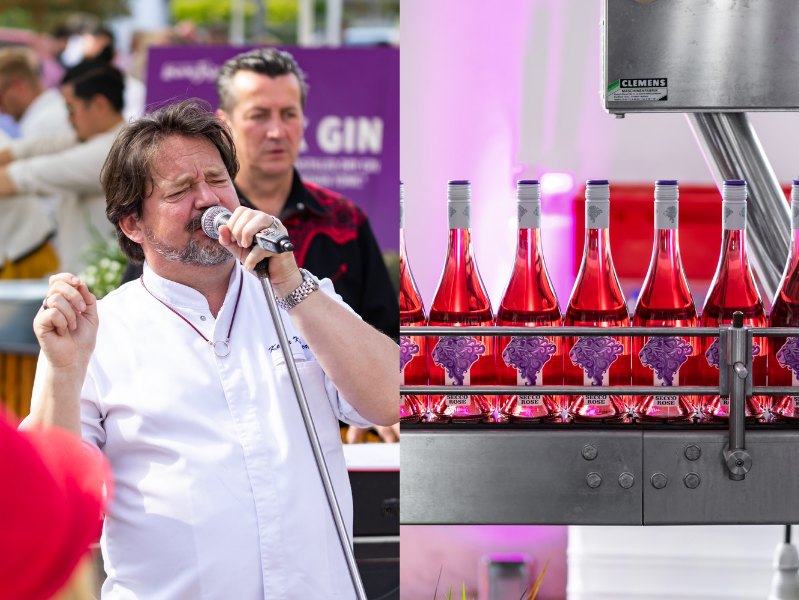 Kolja Kleeberg singt auf dem Löwenfestival 2019 in Kallstadt Secco Rose Weingut am Nil