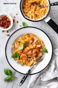 Risoni Risotto Rezept (Orzo, Kritharaki) mit Chili Garnelen nach Alfons Schuhbeck #risoni #risotto #orzo #kritharaki #scampi #shrimps #garnelen #schuhbeck #pasta #nudeln