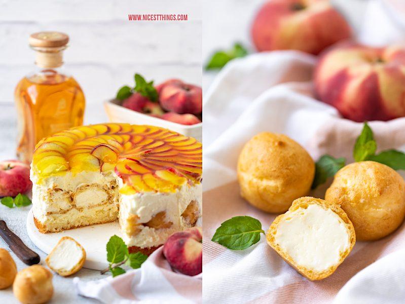 Windbeutel Torte Rezept Windbeuteltorte mit Weinbergpfirsich Pfirsich Pfirsichkuchen Pfirsichtorte