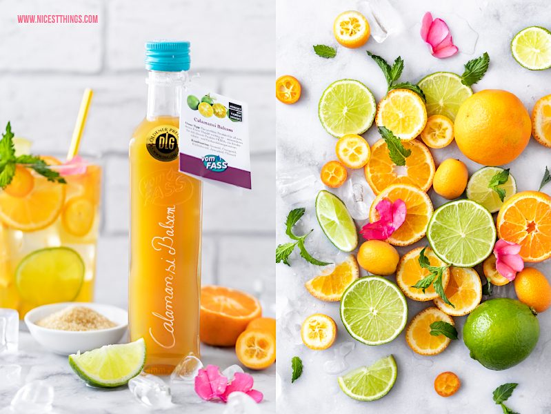 Calamansi Cocktail Eistee Drink Rezept Mandarine Grüntee Kalamansi Limette