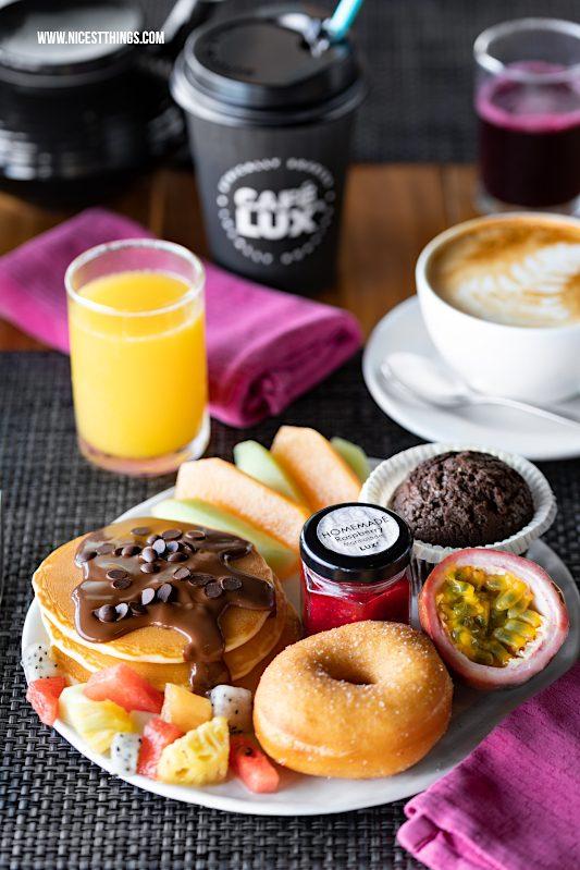 Lux South Ari Atoll Malediven Frühstück Buffet Donuts Pancakes #malediven #frühstück #breakfast #donuts #pancakes #maldives #lux #southari #luxsouthari #luxsouthariatoll #flitterwochen #islandlife