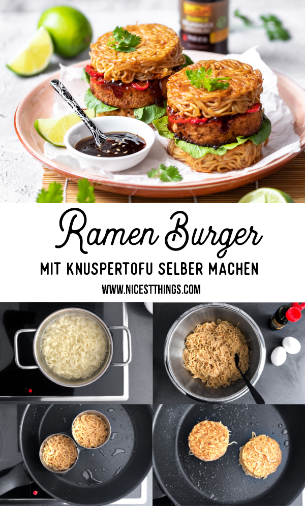 Ramen Burger Rezept Ramenburger selber machen mit knusprigem Tofu und Pak Choi #ramen #burger #ramenburger #leekumkee #oyysodelicious #asianfood #asiatisch #streetfood