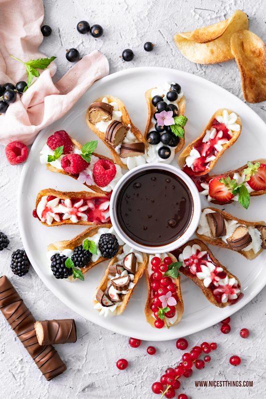 Suesse Tacos süße Tacos Mini Tacos Sweet Tacos mit Früchten Rezept Partyrezepte Fingerfood #suessetacos #sweettacos #minitacos #partyrezepte #fingerfood #tacos