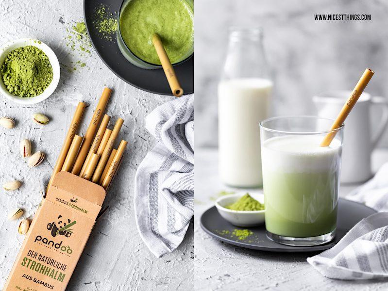 Bambus Strohhalme pandoo Matcha Latte Rezept