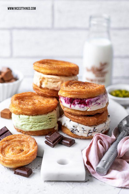 Eis Sandwich Eiscreme Sandwiches Churros Churro Icecream Sandwiches Eisrezepte #icecream #icecreamsandwich #churros #churrosandwich #eisrezepte #eissandwich