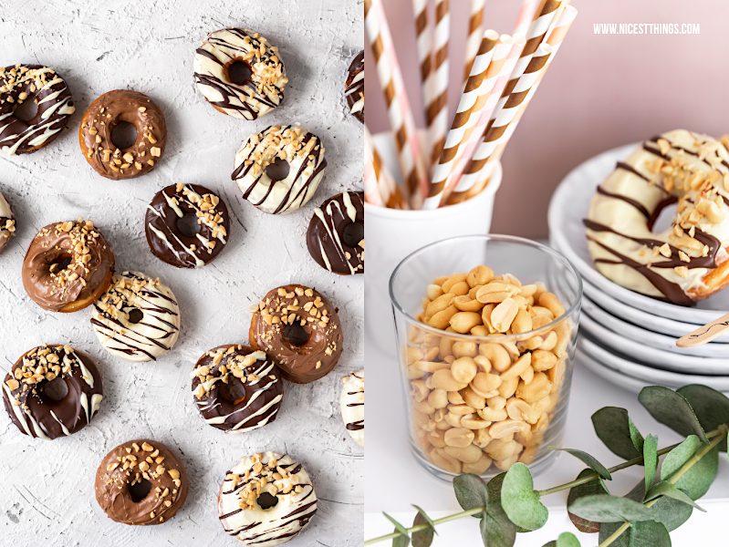 Erdnuss Donuts Rezept Doughnuts Erdnussparty zum Tag der Erdnuss