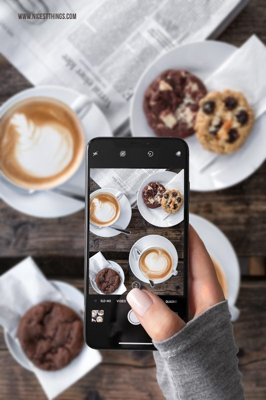 Food Fotografie mit dem Smartphone bessere Food Fotos mit dem Handy machen Tipps für unterwegs #foodfotografie #foodphotography #foodfotos #fotografie #smartphone #handy #iphonexs #iphonexsmax #iphone #foodblogger #fototipps