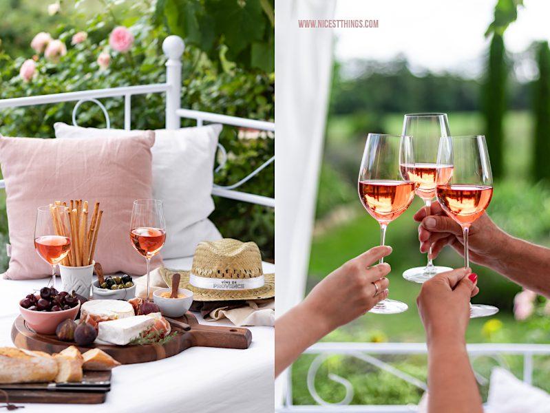 Vins de Provence Rosé Roséwein zum Aperitif im Garten