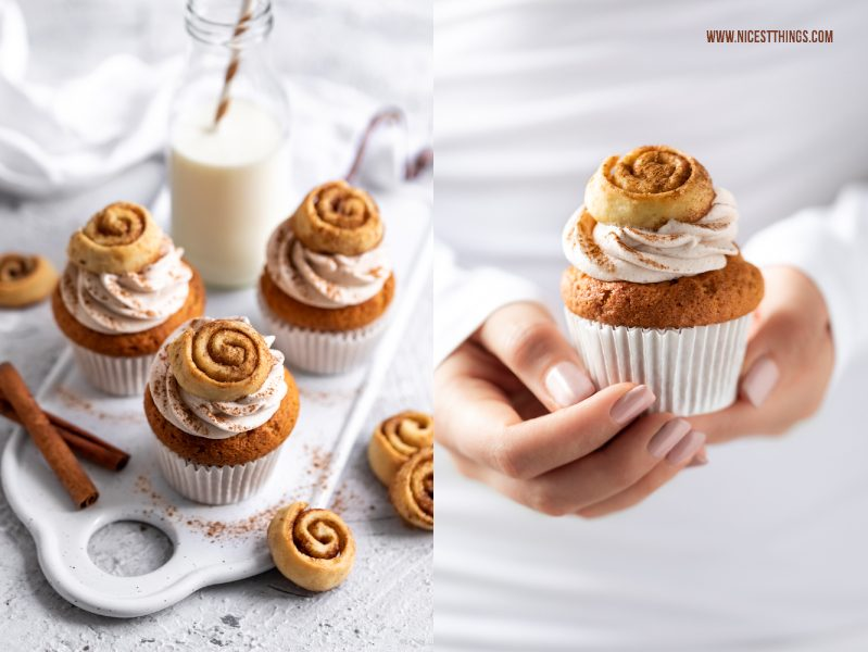 Zimt Cupcakes Mini Zimtschnecken Cupcakes Cinnamon Roll Cupcakes