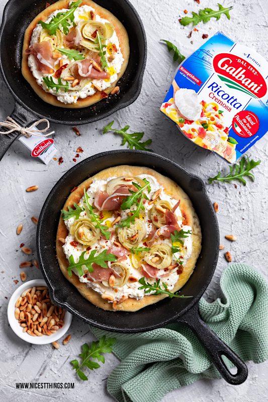 Galbani Ricotta Cremosa Rezept Pan Pizza Pfannenpizza