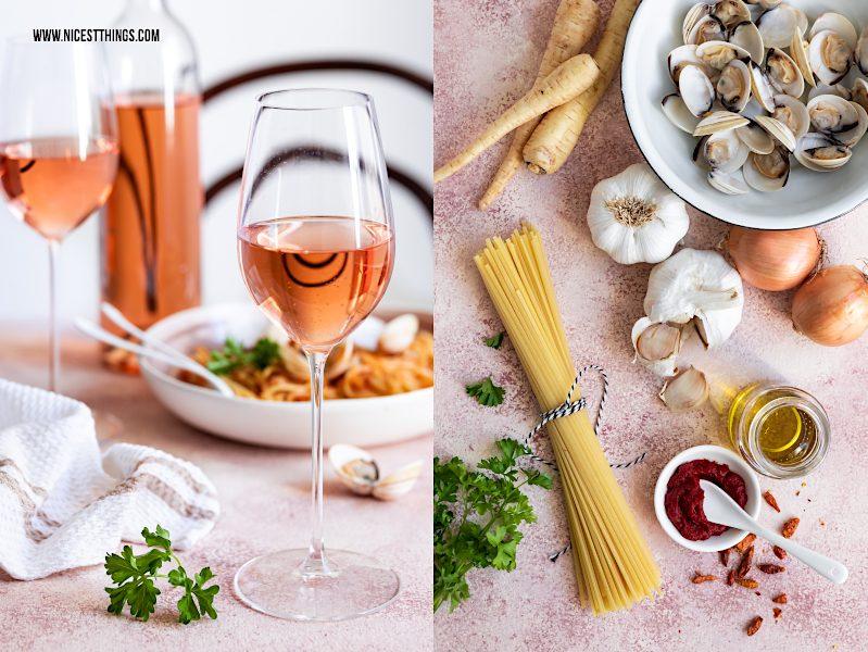 Food Wine Pairing Rosé Roséwein Muscheln