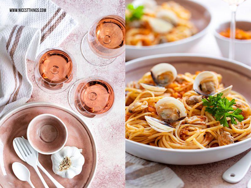 Spaghetti alle vongole Rezept mit Roséweinen der Provence, Food Wine Pairing