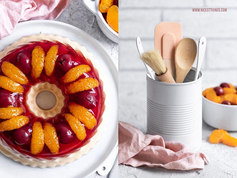 Götterspeise Torte Wackelpudding Kuchen Guglhupf