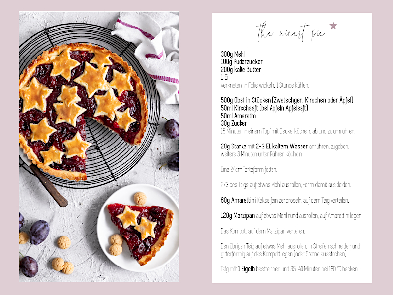 Visitenkarten mit Rezept für Foodblogger von Vistaprint